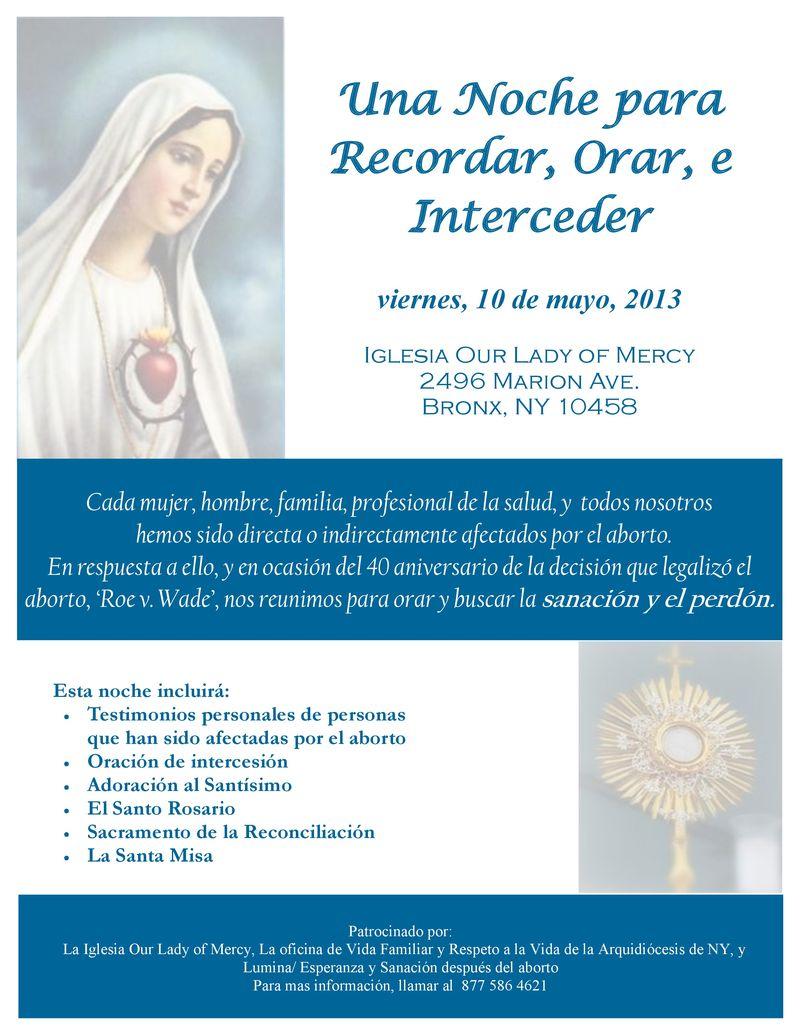 Spanish Pray Service may 13