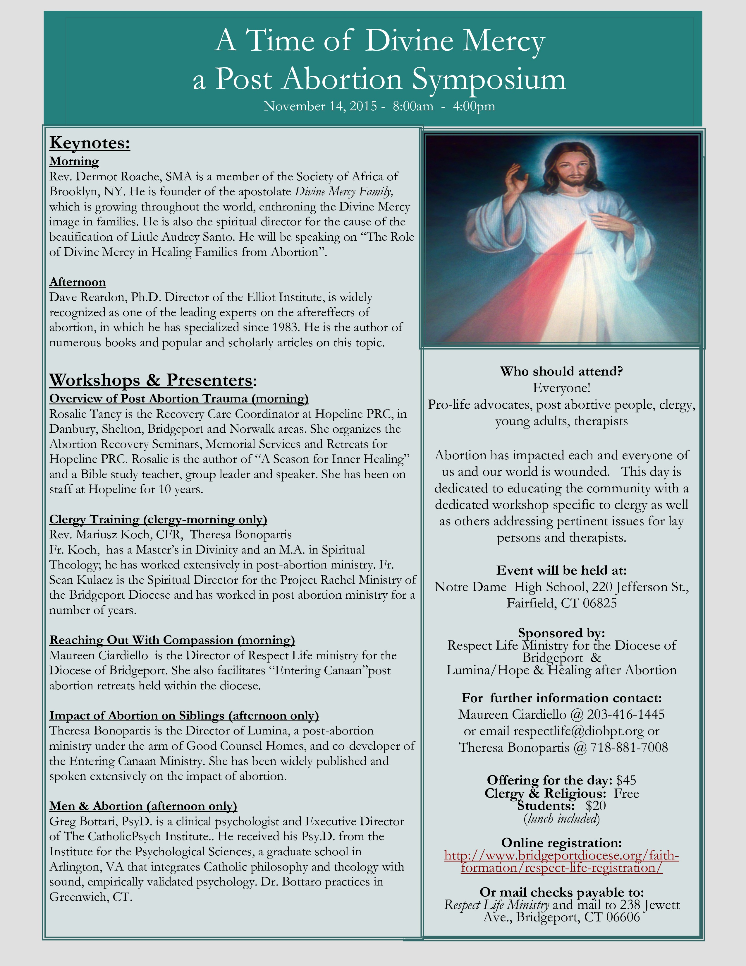 A Time for Divine Mercy - Post Abortion Symposium